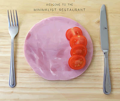 Photograph - Welcome To The Minimalist Restaurant by ISAW Gallery