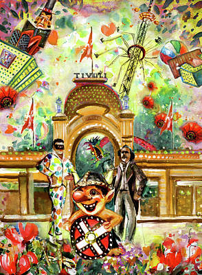 Painting - Welcome To Tivoli Gardens by Miki De Goodaboom