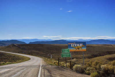 Photograph - Welcome To Utah Sign On Hwy191 by Tatiana Travelways
