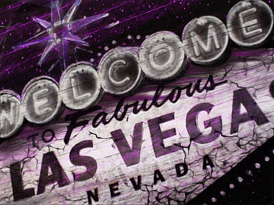 Digital Art - Vegas Baby by Dani Abbott