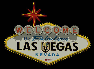 Photograph - Welcome To Vegas Knights Sign Digital Drawing by Ricky Barnard