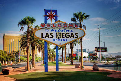 Photograph - Welcome To Vegas Knights Sign by Ricky Barnard