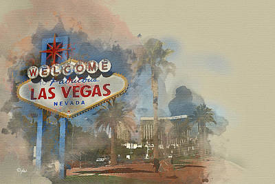 Digital Art - Welcome To Vegas by Paulette B Wright