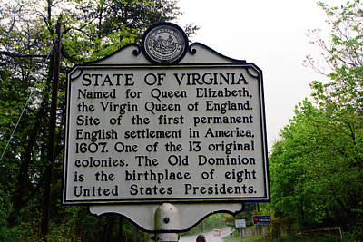 Photograph - Welcome To Virginia by Raymond Salani III