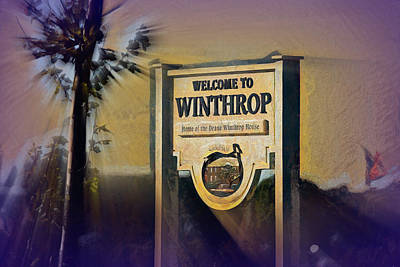 Digital Art - Welcome To Winthrop by Thomas Logan