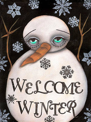 Welcome Winter Art Print by  Abril Andrade Griffith