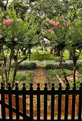 Natchitoches Photograph - Welcoming Garden by Judy Vincent