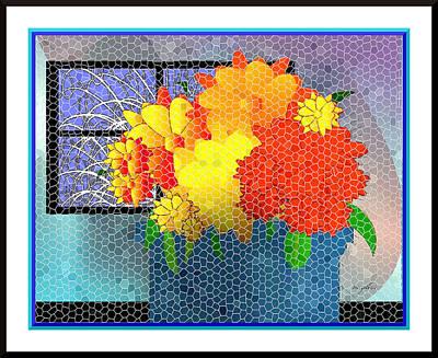 Digital Art - Welcoming Mosaic by Iris Gelbart