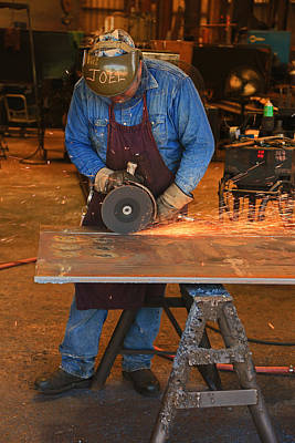 Photograph - Welding And Grinding Steel by Ronald Olivier
