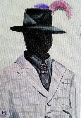 Painting - Well Dressed Derby  Mannequin by Mary Capriole
