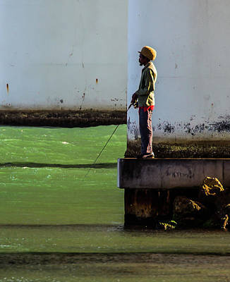 Photograph - Well-dressed Fisherman by Richard Goldman