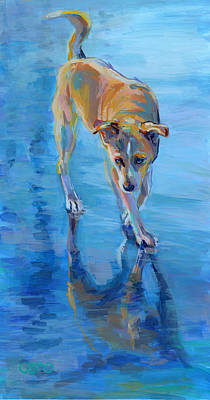 Dog Beach Painting - Well Hello Gorgeous by Kimberly Santini