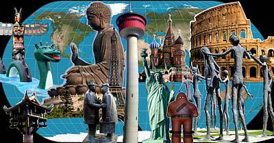 Prague Digital Art - Well-knowns In My World by Tin Tran