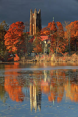 Photograph - Wellesley College Galen Stone Tower by Juergen Roth