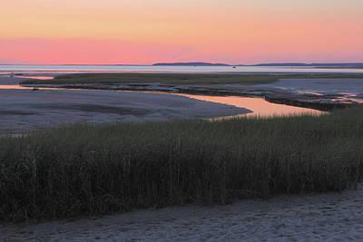 Photograph - Wellfleet Bay Sunset by John Burk