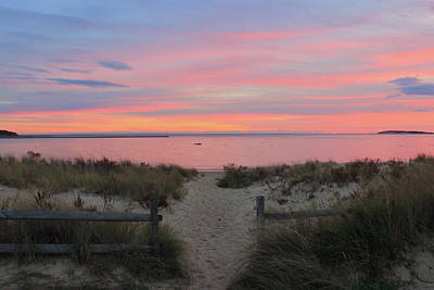 Photograph - Wellfleet Harbor Sunset From Mayo Beach by John Burk