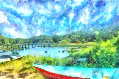 Cape Cod Digital Art - Wellfleet On Cape Cod by Anthony Caruso