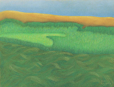 Pastel - Wellfleet Waves by Anne Katzeff