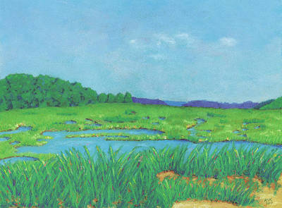Pastel - Wellfleet Wetlands by Anne Katzeff