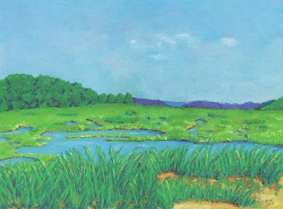 Pastel - Wellfleet Wetlands by Anne Katzeff