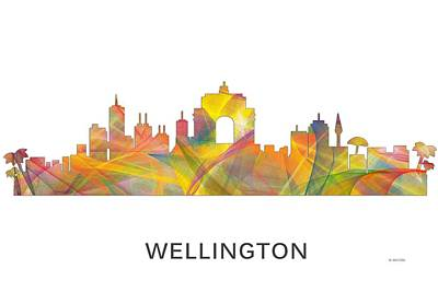 Wellington Digital Art - Wellington Nz Skyline by Marlene Watson