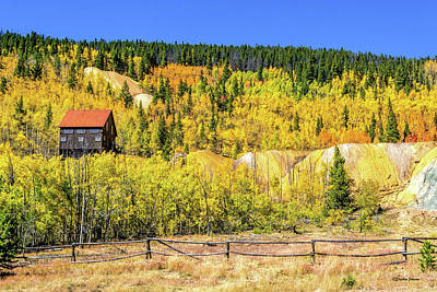 Photograph - Wellington Ore Bin In The Aspen by Stephen Johnson