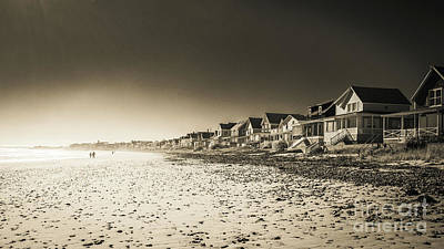 Wells Beach Maine Inrared Art Print