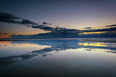 Coastal Maine Photograph - Wells Beach Reflections by Rick Berk