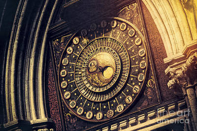 The Clock Photograph - Wells Cathedral Astronomical Clock  by Tim Gainey