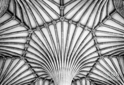 Vaults Photograph - Wells Cathedral Chapter House Vaulted Ceiling by Tim Gainey