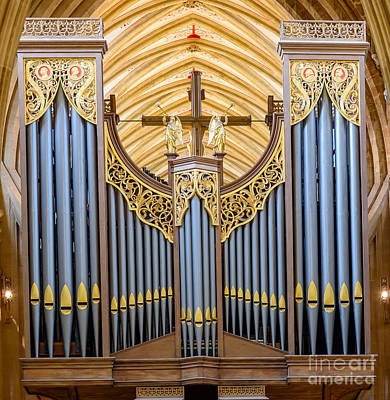 Photograph - Wells Cathedral Organ by Colin Rayner