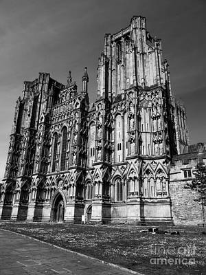 Photograph - Wells Cathedral In Bw by Lexa Harpell