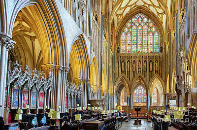 Photograph - Wells Cathedral Interior by Tim Gainey