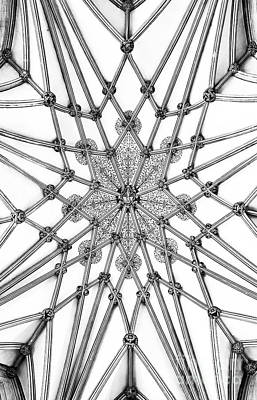 Photograph - Wells Cathedral Lady Chapel Ceiling by Tim Gainey