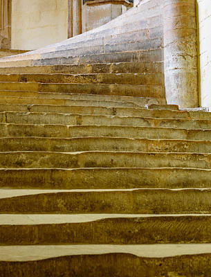 Photograph - Wells Cathedral Steps by Colin Rayner