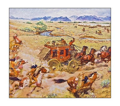 Wells Fargo Express Old Western Art Print