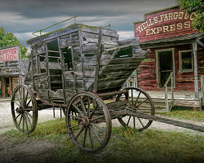 Photograph - Wells Fargo Stagecoach At 1880 Town by Randall Nyhof