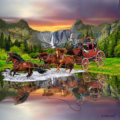 Wells Fargo Stagecoach Art Print by Glenn Holbrook