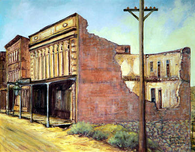 Painting - Wells Fargo Virginia City Nevada by Evelyne Boynton Grierson