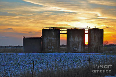 Photograph - Wellsite Sunset by Anjanette Douglas