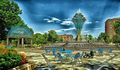 Wellspring Photograph - Wellspring Fountain - Council Bluffs Iowa by Mountain Dreams