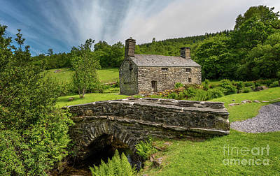 Garden Bridge Photograph - Welsh Farmhouse by Adrian Evans