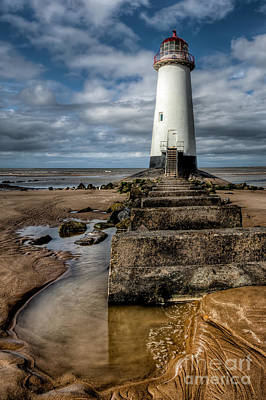 Talacre Photograph - Welsh Lighthouse  by Adrian Evans