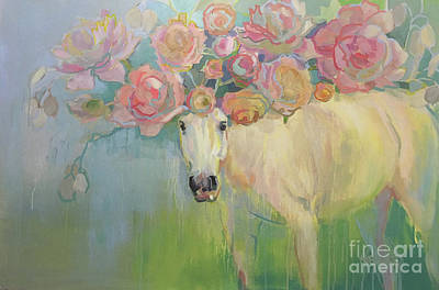 Welsh P-e-ony Art Print by Kimberly Santini
