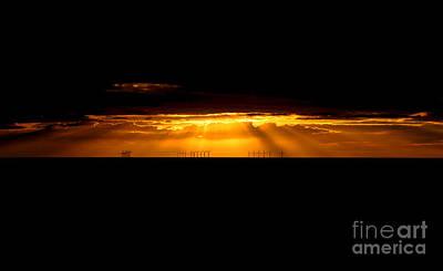 Wales Digital Art - Welsh Sunset by Chris Evans