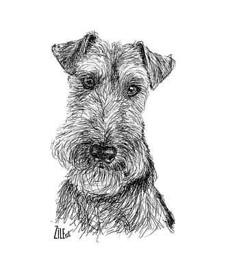 Digital Art - Welsh Terrier @airedalewelsh by ZileArt