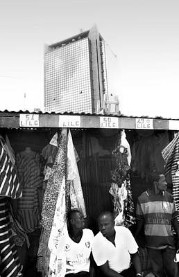 Photograph - Wema Bank Hq And Stalls, Marina by Muyiwa OSIFUYE