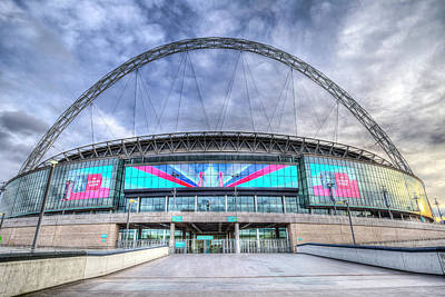 Photograph - Wembley Stadium Wembley Way by David Pyatt