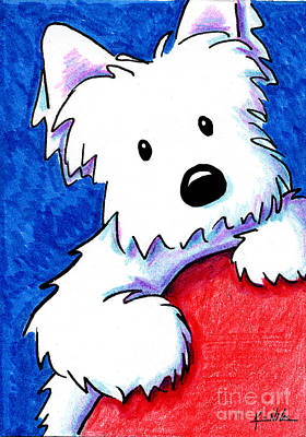 Westie Terrier Drawing - Wendell The Westie by Kim Niles