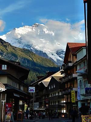 Wengen Photograph - Wengen Alps by David Powell